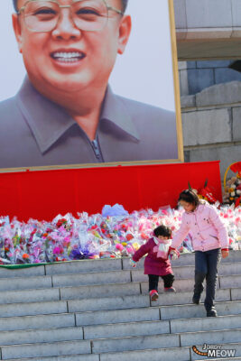Flowers for Kim Jong-il in Pyongyang
