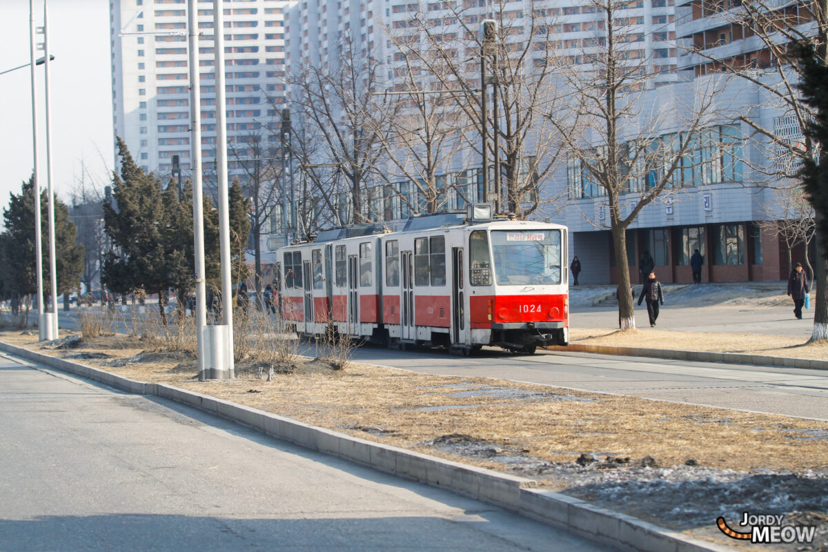 Red Tramway in Pyongyang