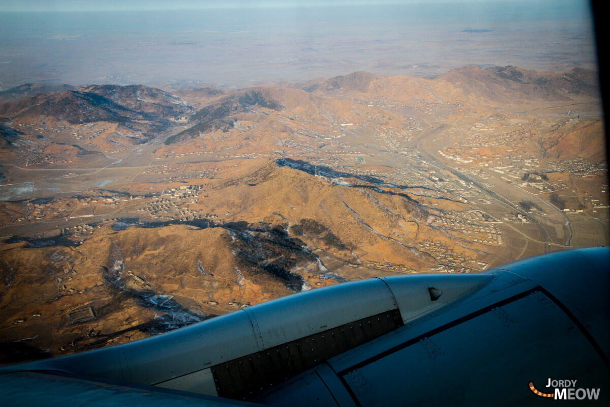 Pyongyang from the plane